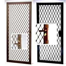 aluminum security screens doors swinging